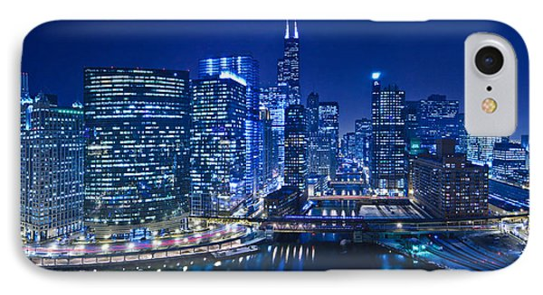 Chicago River Panorama IPhone Case by Steve Gadomski