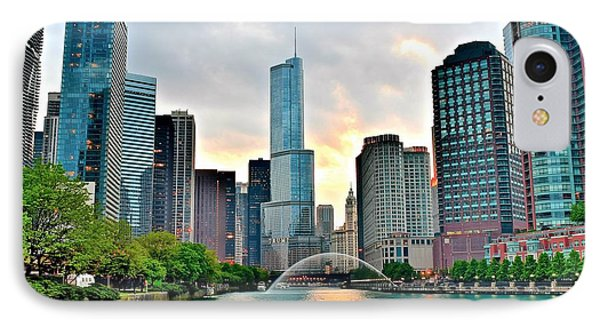 Chicago River View At Dusk IPhone Case