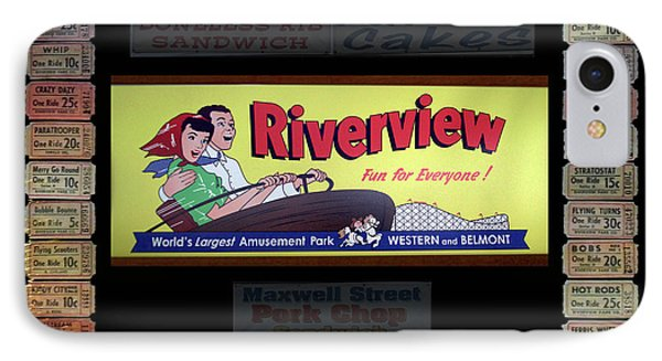 Chicago Riverview Park Fun For Everyone Signage IPhone Case by Thomas Woolworth