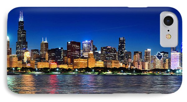 Chicago Shorline At Night IPhone Case