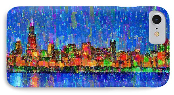 Chicago Skyline 200 - Da IPhone Case by Leonardo Digenio