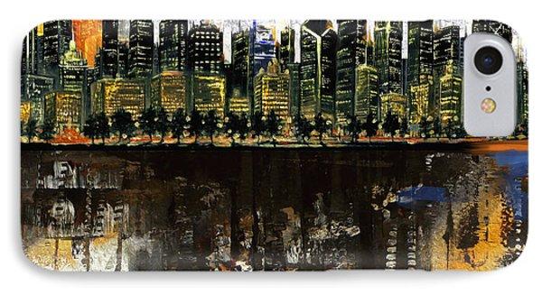 Chicago Skyline 201 1  IPhone Case by Mawra Tahreem