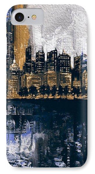 Chicago Skyline 201 2 IPhone Case by Mawra Tahreem