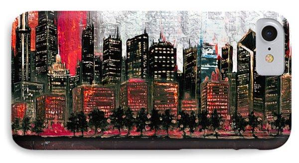 Chicago Skyline 201 4  IPhone Case by Mawra Tahreem