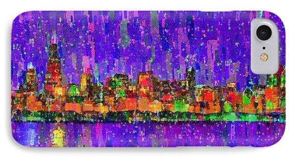 Chicago Skyline 201 - Pa IPhone Case by Leonardo Digenio