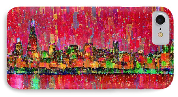 Chicago Skyline 203 - Da IPhone Case by Leonardo Digenio