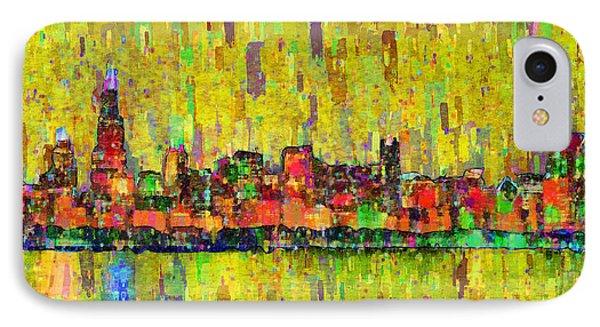 Chicago Skyline 205 - Pa IPhone Case by Leonardo Digenio