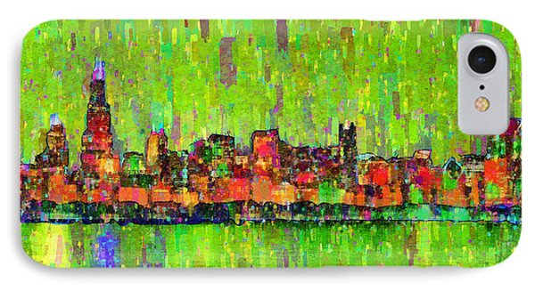 Chicago Skyline 208 - Pa IPhone Case by Leonardo Digenio
