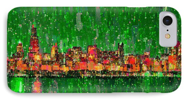 Chicago Skyline 209 - Pa IPhone Case