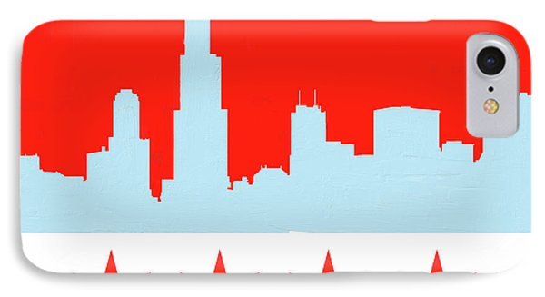 Chicago Skyline 541 1 IPhone Case by Mawra Tahreem