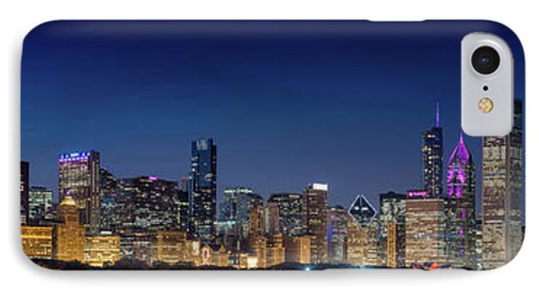 IPhone Case featuring the photograph Chicago Skyline After Sunset by Emmanuel Panagiotakis