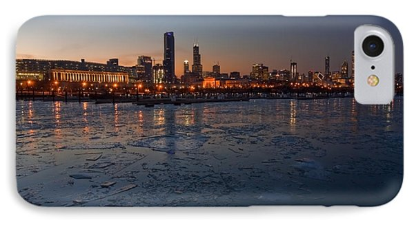 Chicago Skyline At Dusk IPhone 7 Case by Sven Brogren