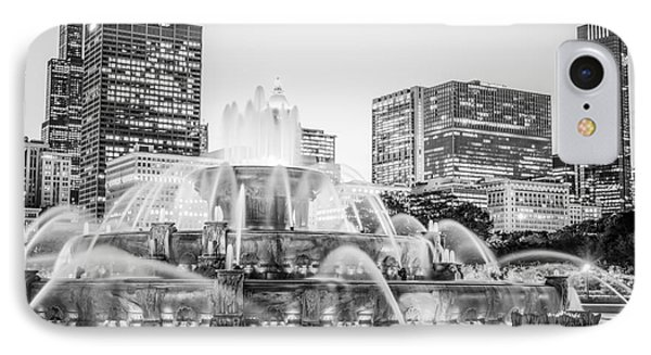 Chicago Skyline Black And White Photography IPhone Case