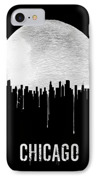 Chicago Skyline Black IPhone 7 Case by Naxart Studio