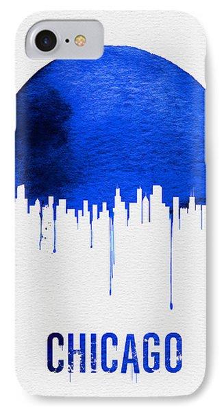 Chicago Skyline Blue IPhone Case