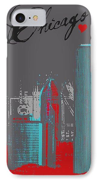 Chicago Skyline IPhone Case by Brandi Fitzgerald