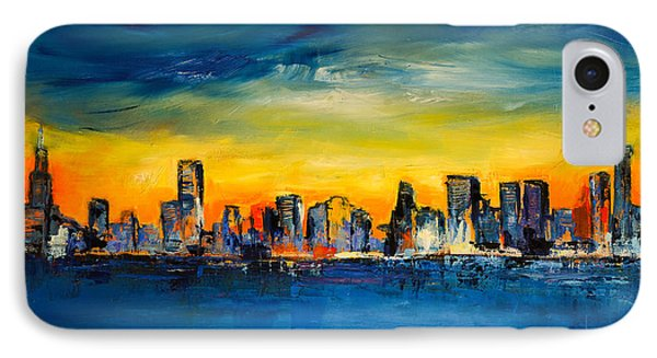 Chicago Skyline IPhone 7 Case by Elise Palmigiani