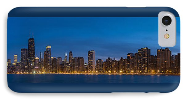 Chicago Skyline From North Ave Beach Panorama IPhone Case by Steve Gadomski
