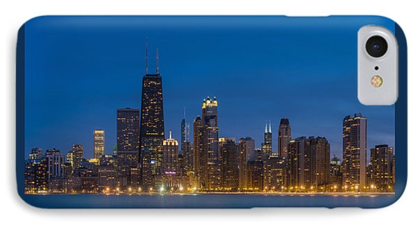 Chicago Skyline From North Ave Beach IPhone Case by Steve Gadomski