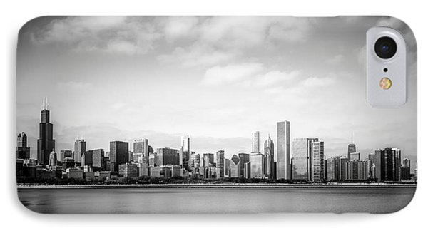 Chicago Skyline Lakefront Black And White Photo IPhone Case