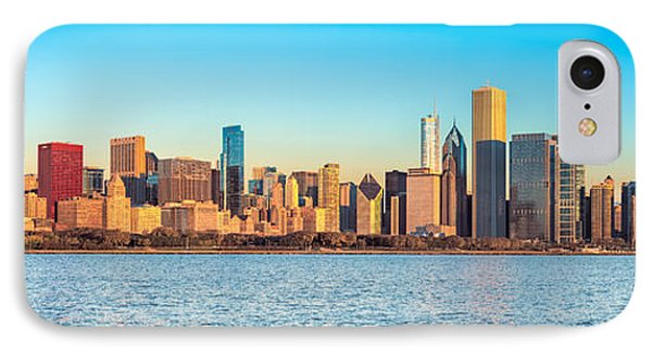 Chicago Skyline On A Clear Day IPhone Case by James Udall