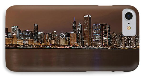 Chicago Skyline Panorama Phone Case by Eddie Yerkish