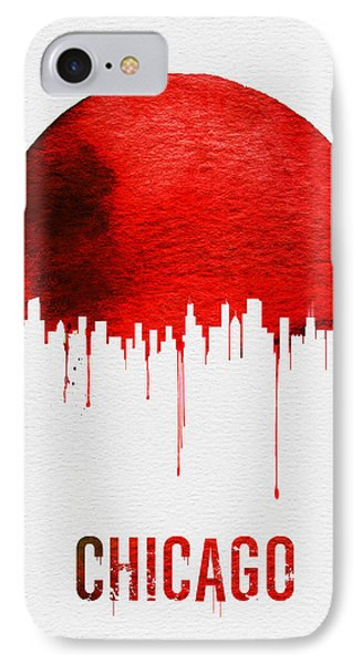 Chicago Skyline Red IPhone Case