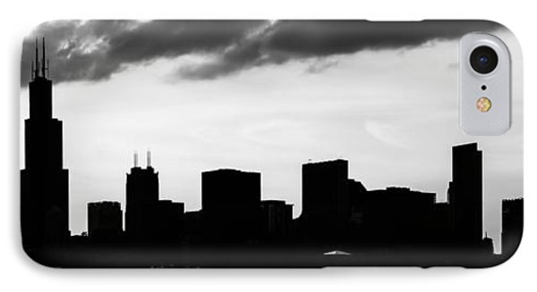 Chicago Skyline Silhouette Panorama Photo IPhone Case