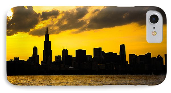 Chicago Skyline Sunset Silhouette IPhone Case