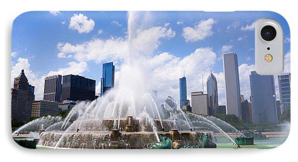 Chicago Skyline With Buckingham Fountain Phone Case by Paul Velgos