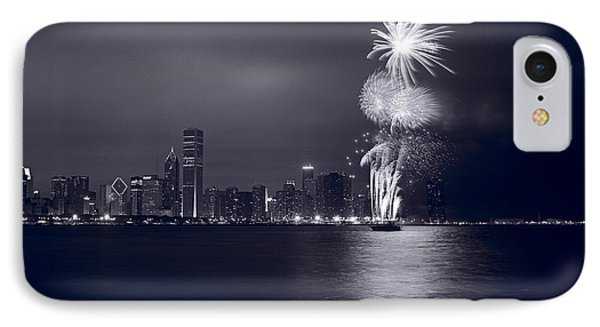 Chicago Skyline With Fireworks IPhone Case