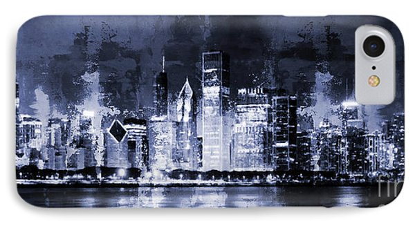 Chicago Skylines 0043m IPhone Case by Gull G