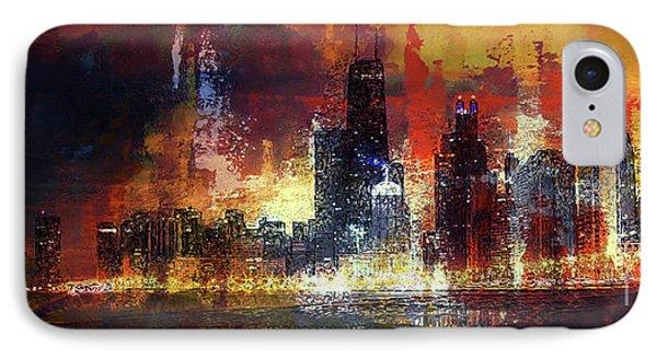 Chicago Skylines 02v IPhone Case
