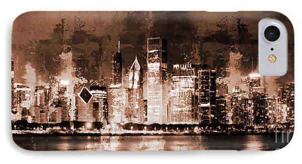 Chicago Skylines 77l IPhone Case by Gull G