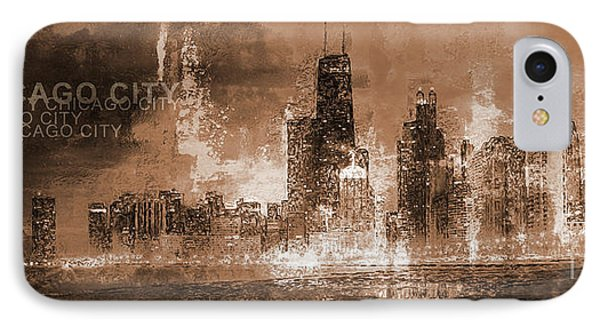 Chicago Skyscrapers  IPhone Case by Gull G