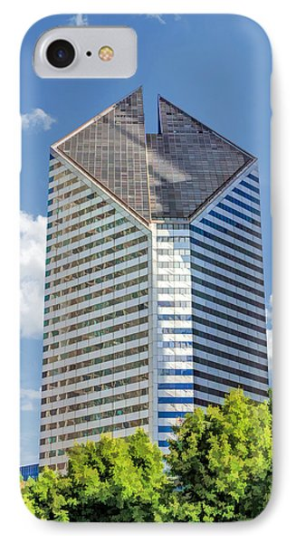 IPhone Case featuring the painting Chicago Smurfit-stone Building by Christopher Arndt