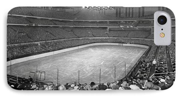 Chicago Stadium Prepared For A Chicago Blackhawks Game IPhone Case