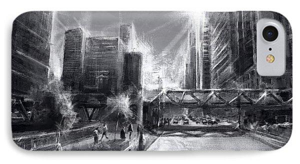 Chicago Street 4 IPhone Case by Bekim Art