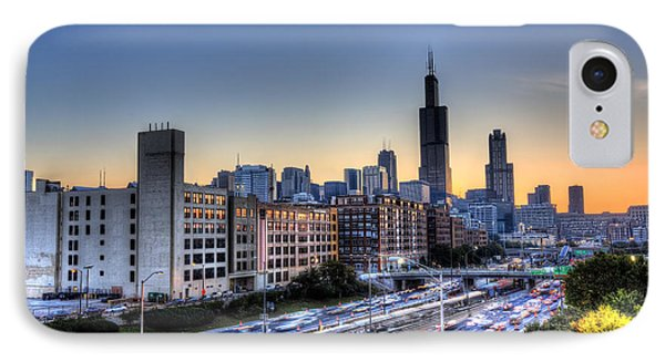 IPhone Case featuring the photograph Chicago Sunrise Rush Hour by Shawn Everhart