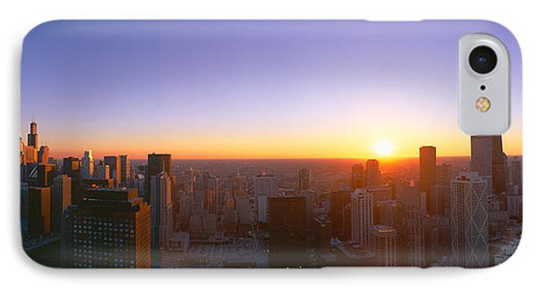 Chicago Sunset, Aerial View, Illinois IPhone Case