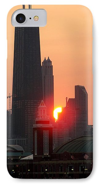 Chicago Sunset Phone Case by Glory Fraulein Wolfe