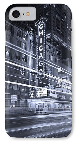 Chicago Theater Marquee B And W IPhone Case by Steve Gadomski