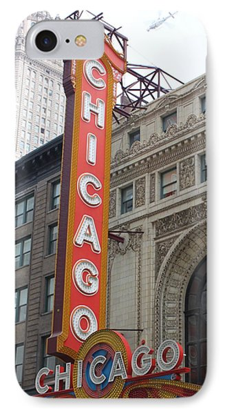 Chicago Theater Sign Phone Case by Lauri Novak