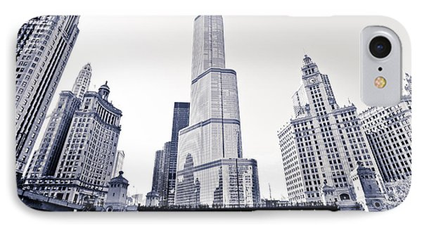 Chicago Trump Tower And Wrigley Building IPhone Case
