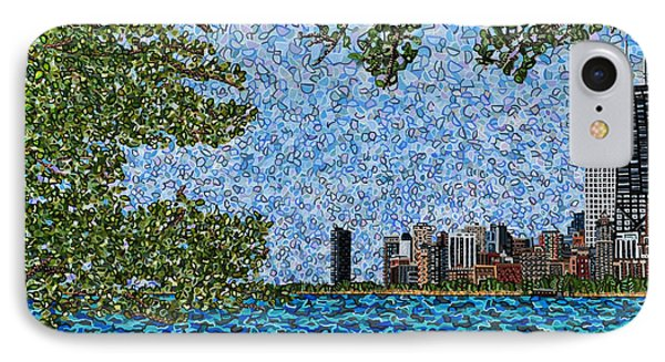 Chicago - View From Lakefront Trail IPhone Case by Micah Mullen