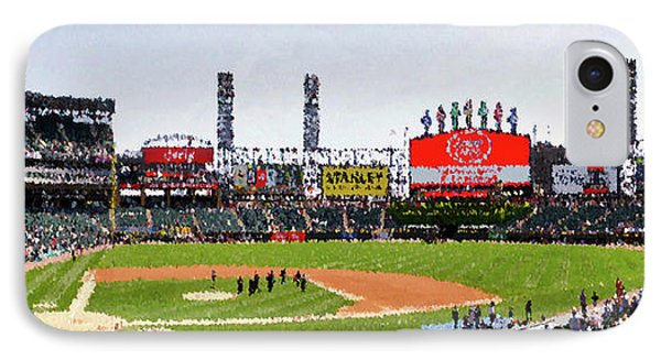 Chicago White Sox Family Day Panorama 04 Pa 01 IPhone Case by Thomas Woolworth