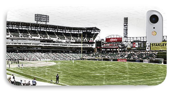 Chicago White Sox Pole To Pole Panorama 07 Pa 03 IPhone Case by Thomas Woolworth