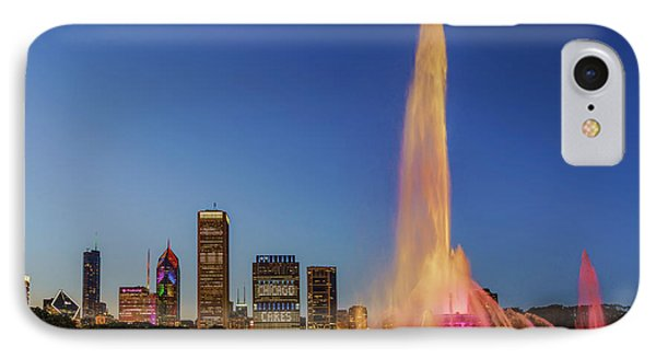 #chicagocares - Buckingham Fountain Rainbows IPhone Case by Scott Campbell