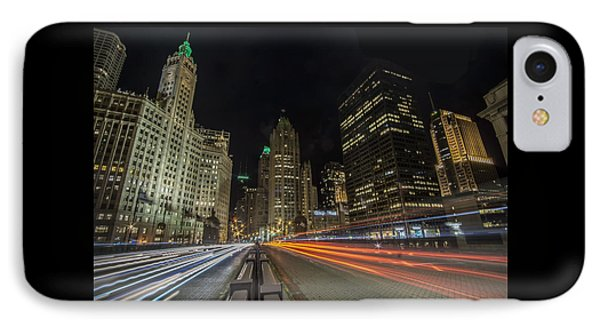 Chicago's Mag Mile Night Streaks IPhone Case by Sven Brogren