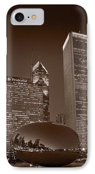 Chicagos Millennium Park Bw Phone Case by Steve Gadomski